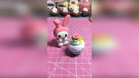 超轻粘土教程: 兔兔的小蛋糕