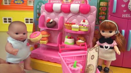 芭比娃娃的蛋糕玩具店,各式各样的小蛋糕可真诱人呀
