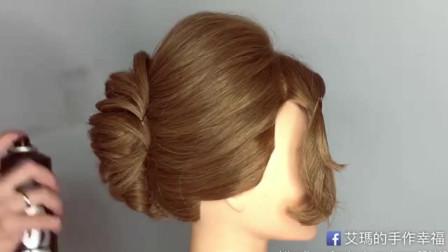 新娘发型,教你变一款单股扭转包头婚礼发型,喜欢的朋友可先收藏