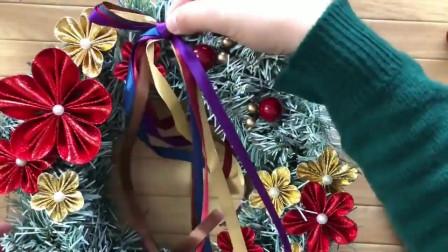 教大家制作圣诞花环,自己做的也能那么漂亮