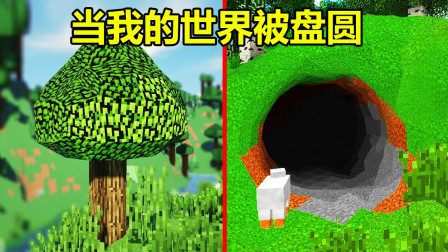 我的世界:当所有方块变成圆形,真实树叶和矿洞,你还玩吗?