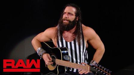 【RAW 06/17】伊莱亚斯满口胡言乱语 赛斯罗林斯拿着铁椅从背后猛击
