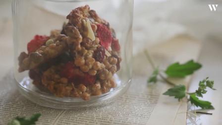 健康低脂的燕麦饼干自己在家做,一点点的燕麦片就可以做一堆!