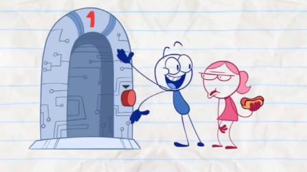 搞笑鉛筆動畫小笨蛋大變活人這個機器真是太神奇了
