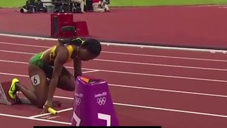 女子田径比赛:重温伦敦奥运会美国打破女子4x100米接力世界纪录运动员的速度