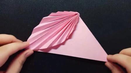 儿童手工折纸:清新的树叶书签,更加简单,看了就会!