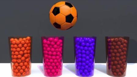 宝宝学颜色, 不同色彩的大篮球和超多的小圆球, 亲子早教