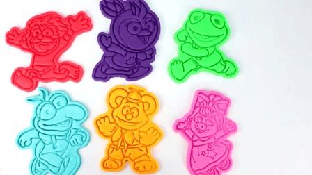 宝宝学颜色, 用橡皮泥制作不同的小动物认识颜色, 亲子早教
