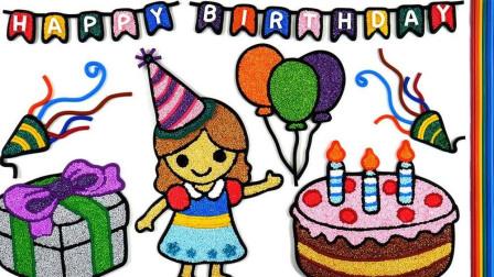 雪花泥粘土画女孩生日蛋糕礼物等,做法简单成品漂亮,小朋友喜欢