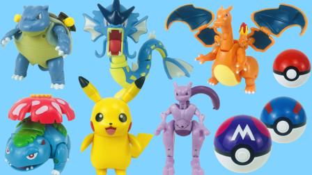 皮卡丘精灵宝可梦变形玩具  六位变形精灵,小朋友们最喜欢哪一位?