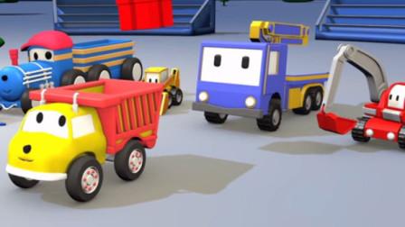 迷你卡车乐园 神秘万圣节 捣蛋车整蛊盛装的挖掘机起重机推土机