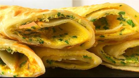 烫面鸡蛋饼的家常做法 简单易学 营养美味 全家都爱吃!