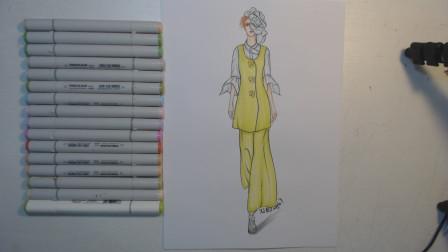服装设计艺术创作,用规律的笔触画出立体的花纹,让服装不在单调!