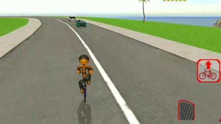 火柴人绳索:火柴人骑单车欢乐多,上演各种单车特技