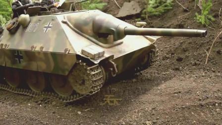 国外汽油动力的RC遥控玩家!二战德国坦克指挥官和驾驶员都可以动