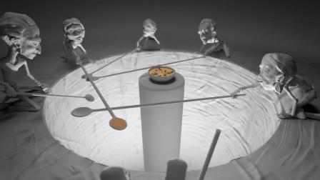人性短片《天堂与地狱》,一把长勺展现了合作的重要性