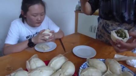 新疆李奶奶教您做山东大包子,这么大!网友一次个都不够吃
