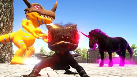 【虾米】方舟:原始恐惧EP18,暴龙兽!驯服恶魔耀尾兽和元老马林