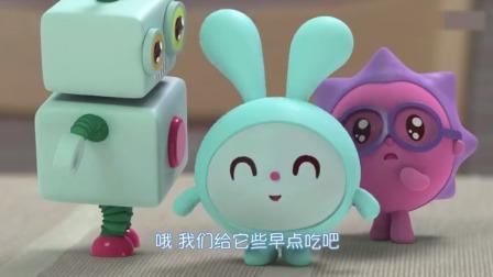 瑞奇宝宝:诺诺和跳跳在跟机器人玩,他们的机器人体力透支了!