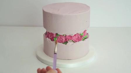 火爆ins的断层裂缝立体蛋糕,打破传统这样做才有创意