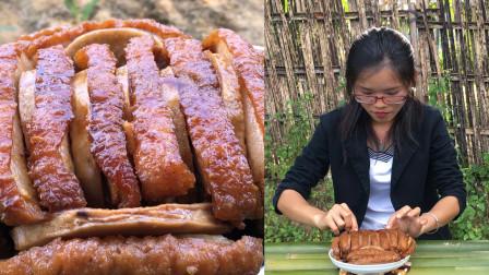 绝了!广西人最喜欢吃的芋头扣肉,原来做扣肉也有诀窍,掌握这些技巧,肥而不腻,光看视频就想吃!