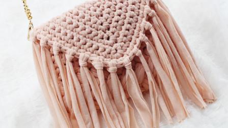 钩针编织流苏包泫雅编织包包教程