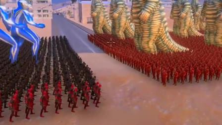 10个阿古茹奥特曼带领1000个死侍,挑战10个雷德王和1000个闪电侠
