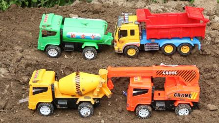 儿童趣味认识工程车玩具,大声喊出他们的名字