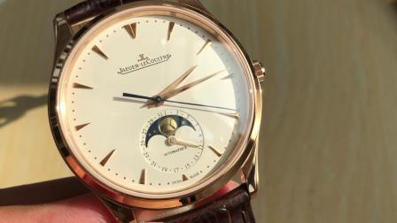 GF积家大师系列玫瑰金月相腕表 正装表