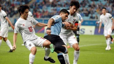 美洲杯:苏亚雷斯点射 三好康儿双响 乌拉圭2-2日本