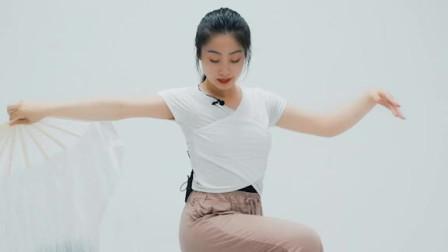 舞蹈分解教学:古风舞蹈 《情深深雨蒙蒙》的扇子舞