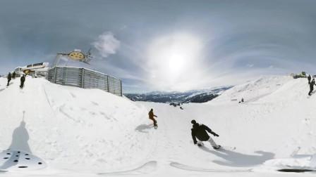 360相机滑雪刺激体验