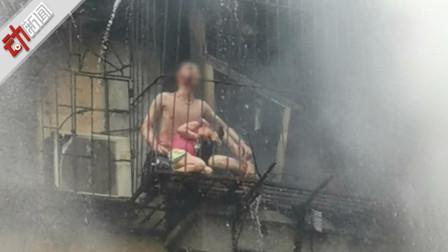 """广州""""夫妻挡火救女1死2伤""""事件家属:3孩子去上学躲过一劫"""