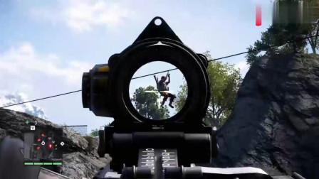 孤岛惊魂解锁游戏中唯一的军事基地!有种飞机,起飞超刺激
