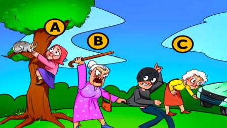 脑力测试:在三个老奶奶中,有一个拥有超能力,是谁?