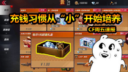 CF周五速报: 每月一元超值礼盒为何只能用现金买?背后阴谋多多!