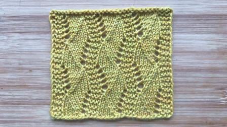 立体有层次的S形花样,简单漂亮,织衣服围巾都不错最新花样大全