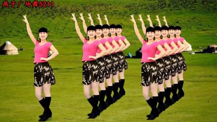 64步广场舞《因为爱着你dj》演唱:龙梅子 简单的步子舞 附分解