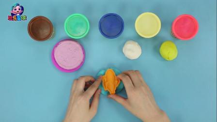 玩乐手工课 创意手工彩泥diy玉米粗粮披萨学颜色