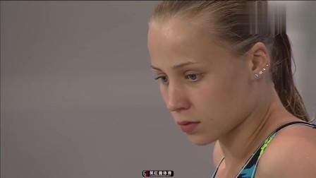 俄罗斯美女跳水运动员,性感身材完爆美女明星,漂亮入水动作!