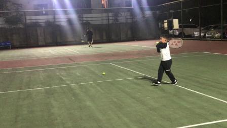 【7岁】10-5哈哈网球正手反手击球练习IMG_9129.mov