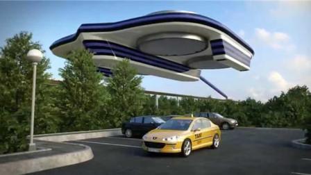 世界上首辆未来汽车问世,行驶在高空中,以后堵车问题将被彻底解决