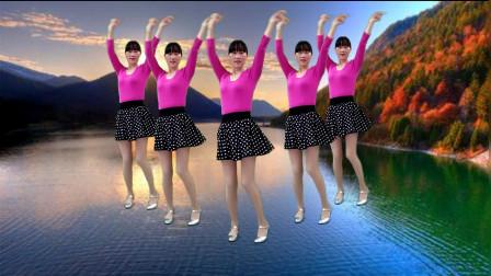纯音乐版《又见山里红》广场舞,32步简单好看,真心醉人!