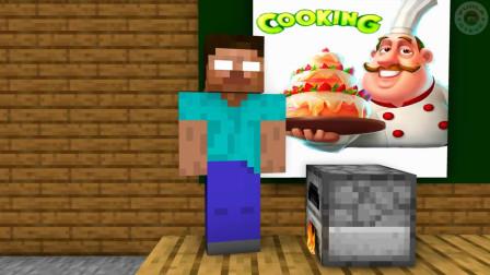 我的世界动画-怪物学院-疯狂烹饪-PuhlaSteve