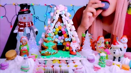 具有圣诞气息的糖果姜饼屋做的好好看,吃着感觉也不错