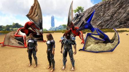 方舟生存进化-VS系列 无齿翼龙VS妹子的两只古神翼龙 结果能猜到吗