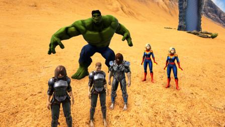 方舟生存进化-沙漠赛跑 骑绿巨人VS两个神奇女侠 猜谁赢了