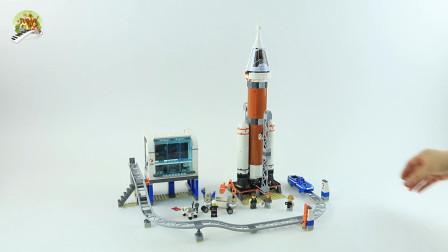 开箱组装太空火箭和发射基地建筑玩具