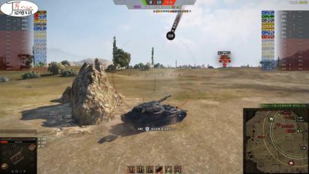 坦克世界705工程A蛮荒之地死完队友死贫道以攻为守