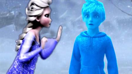 冰雪女王×杰克冻人,杰克去寻找出走的艾莎,但却被冻成冰雕